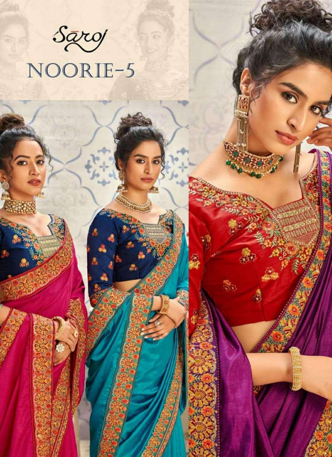 Saroj Noorie Vol 5 Silky Designer Fancy Sarees