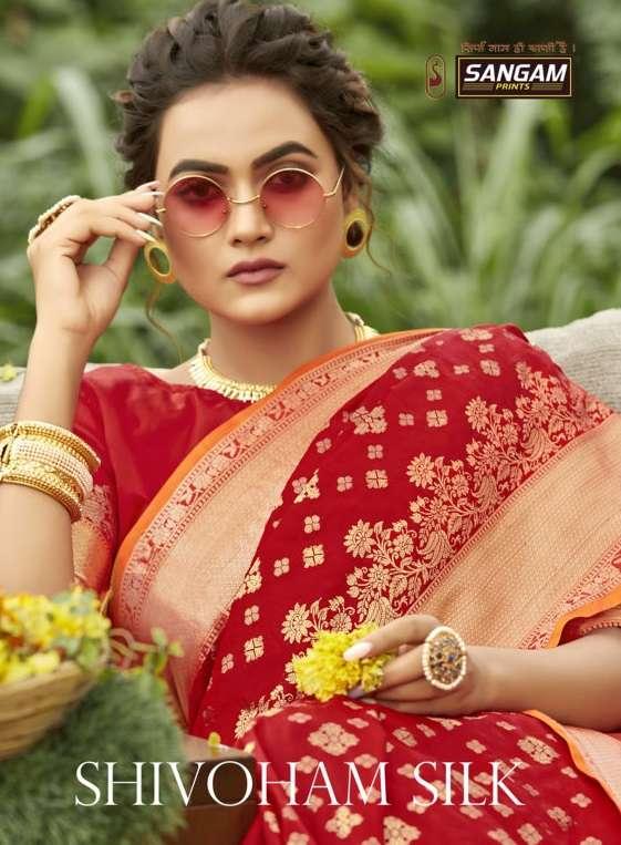 Shivoham Silk By Sangam Designer Banarasi Silk Sari Supplier