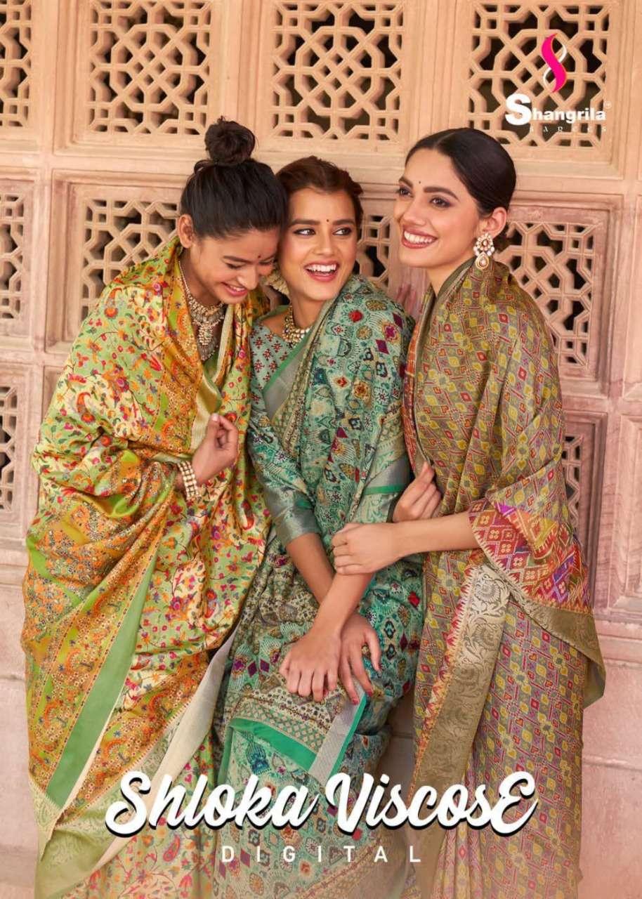 Shloka Viscose Digital With Kashmiri Kalamkari Prints On Soft Viscose Weaving Fabric By Shangrila