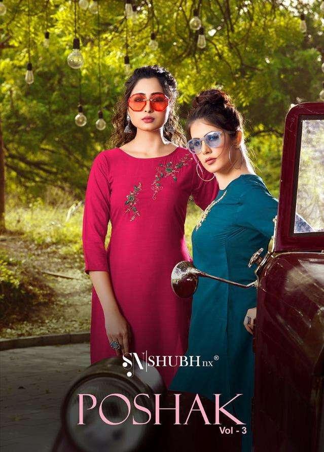 Shubh Nx Poshak Vol 3 Viscose Handwork Fancy Kurti