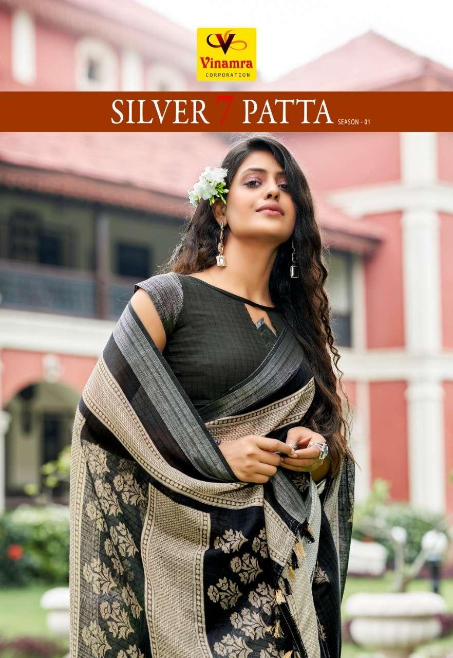 Silver 7 Patta Vol 1 By Vinamra Cotton Saree Exports