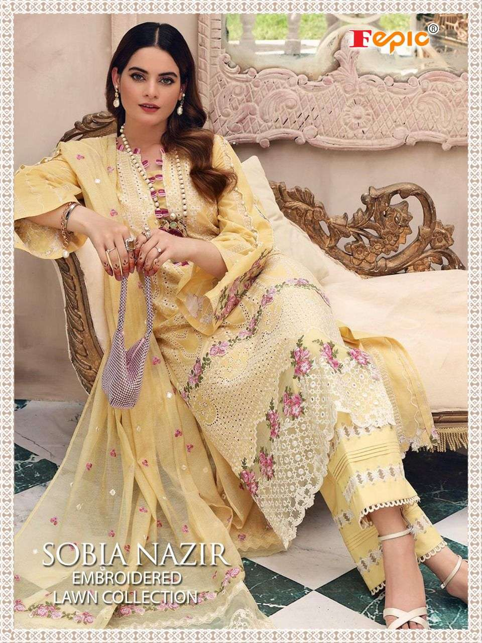 Sobia Nazir Embroidered Lawn By Fepic Pakistani Fancy Dress Materials