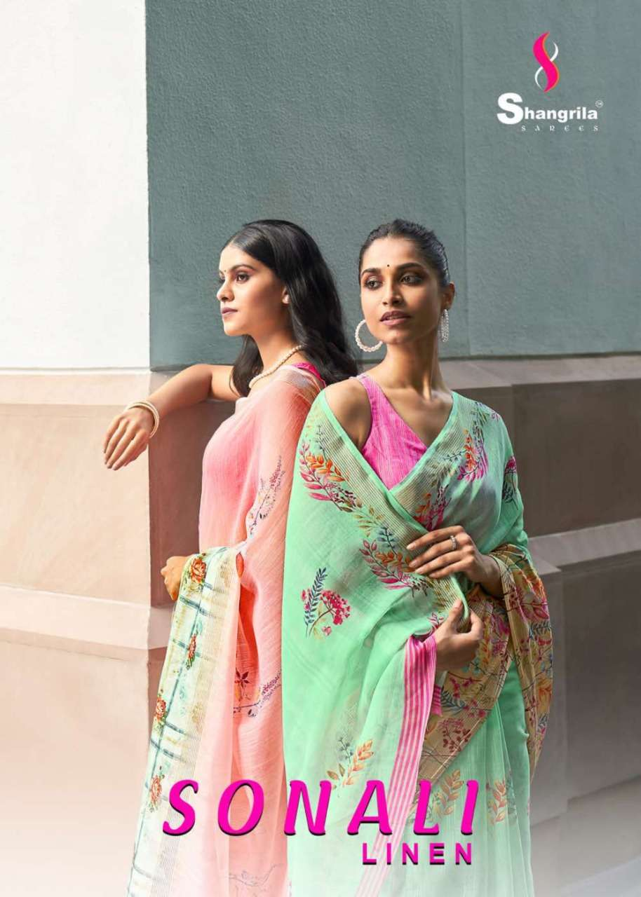 Sonali Linen Most Magnificent And Rich Collection Of Linen Cotton Sarees By Shangrila
