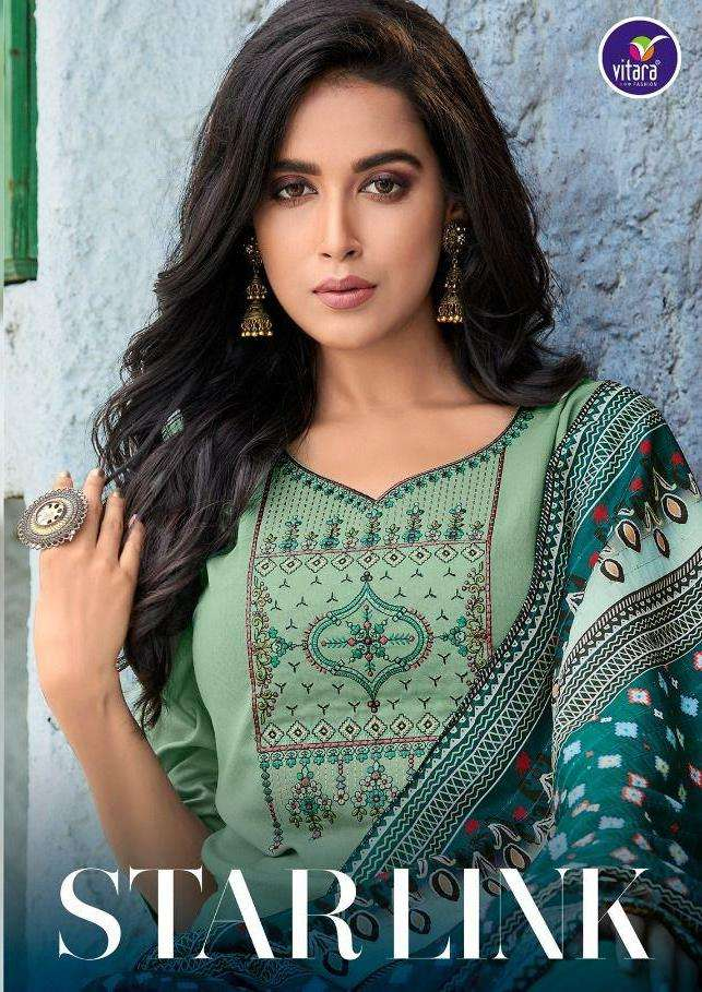 Star Link Exclusive Designer Kurti Bottom With Dupatta By Vitara Fashions