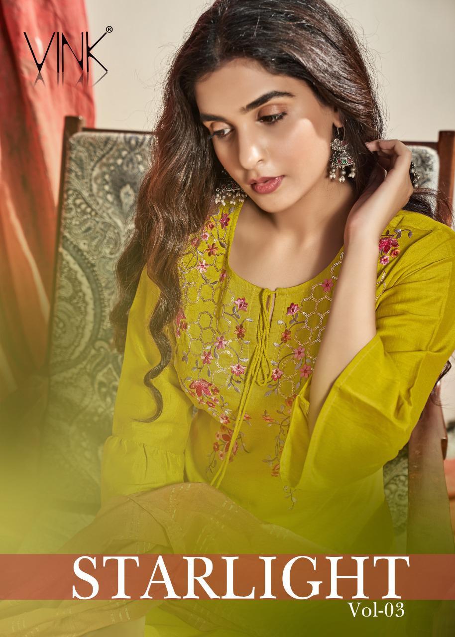 Starlight Vol 3 By Vink Viscose Silk Readymade Boutique Style Salwar Kameez
