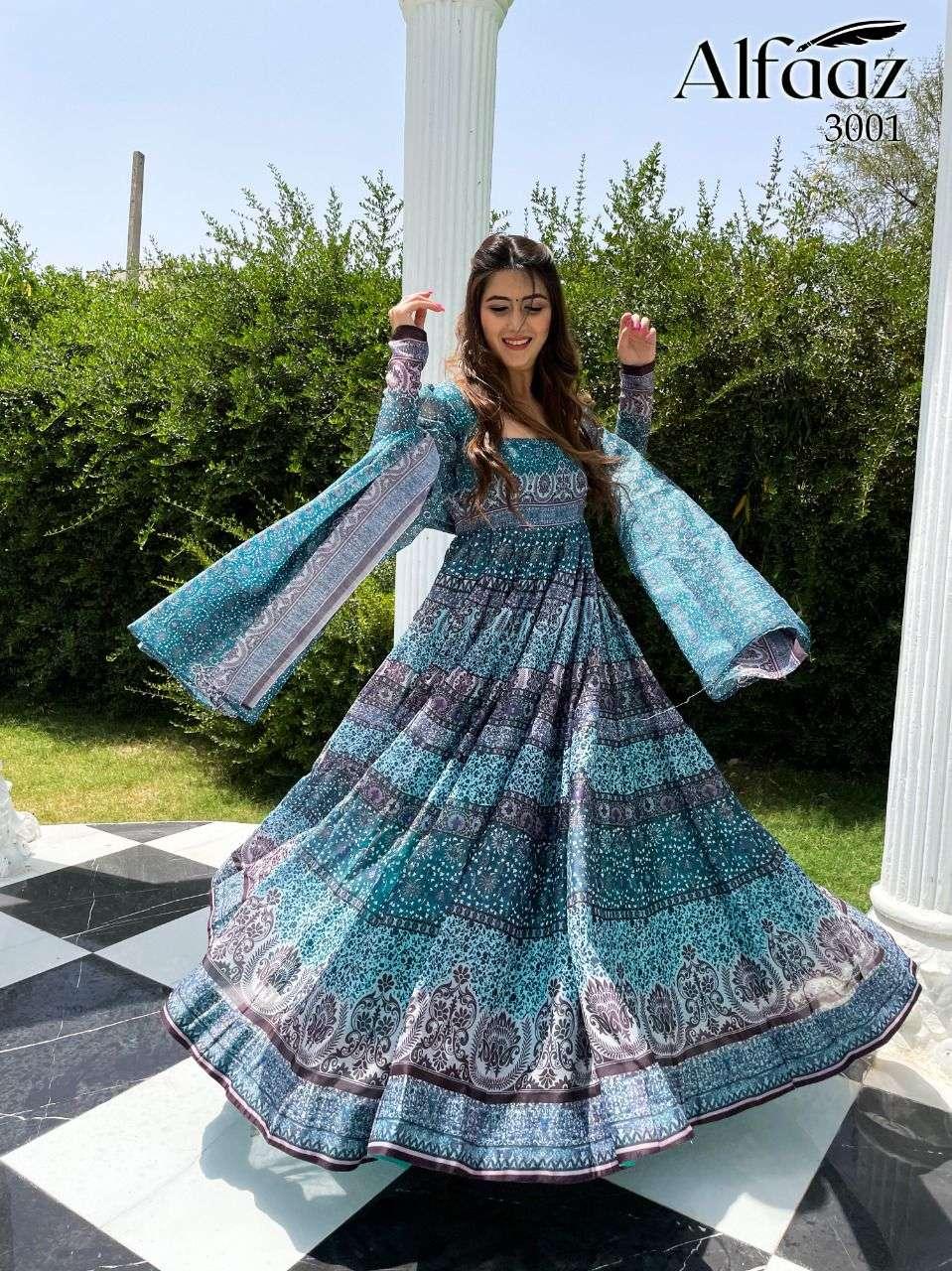 Stylishta Alfaaz Vol 3 Party Wear Long Gown With Dupatta