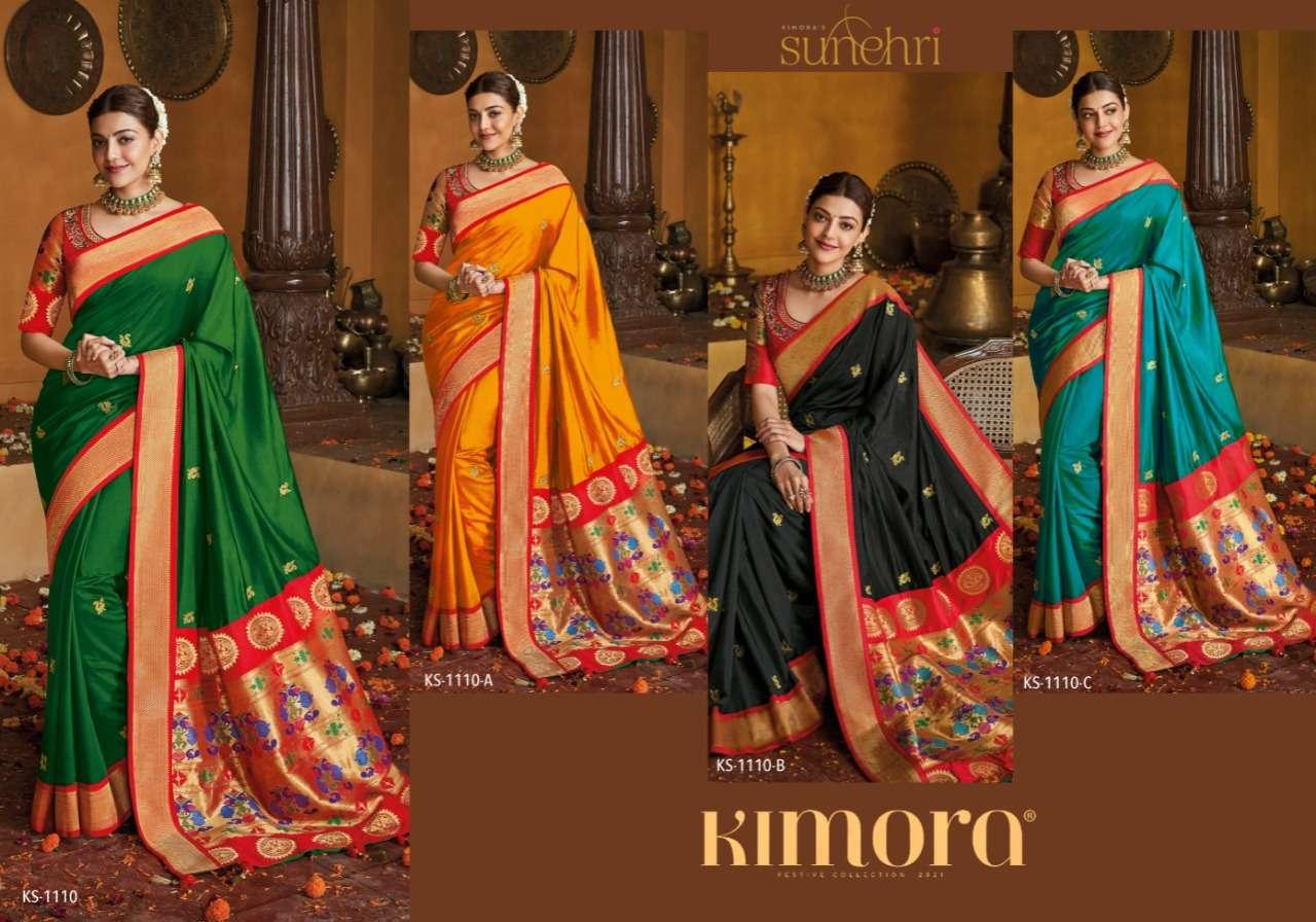 Sunehri 1110 Design Colors By Kimora Kat Padhar Sarees