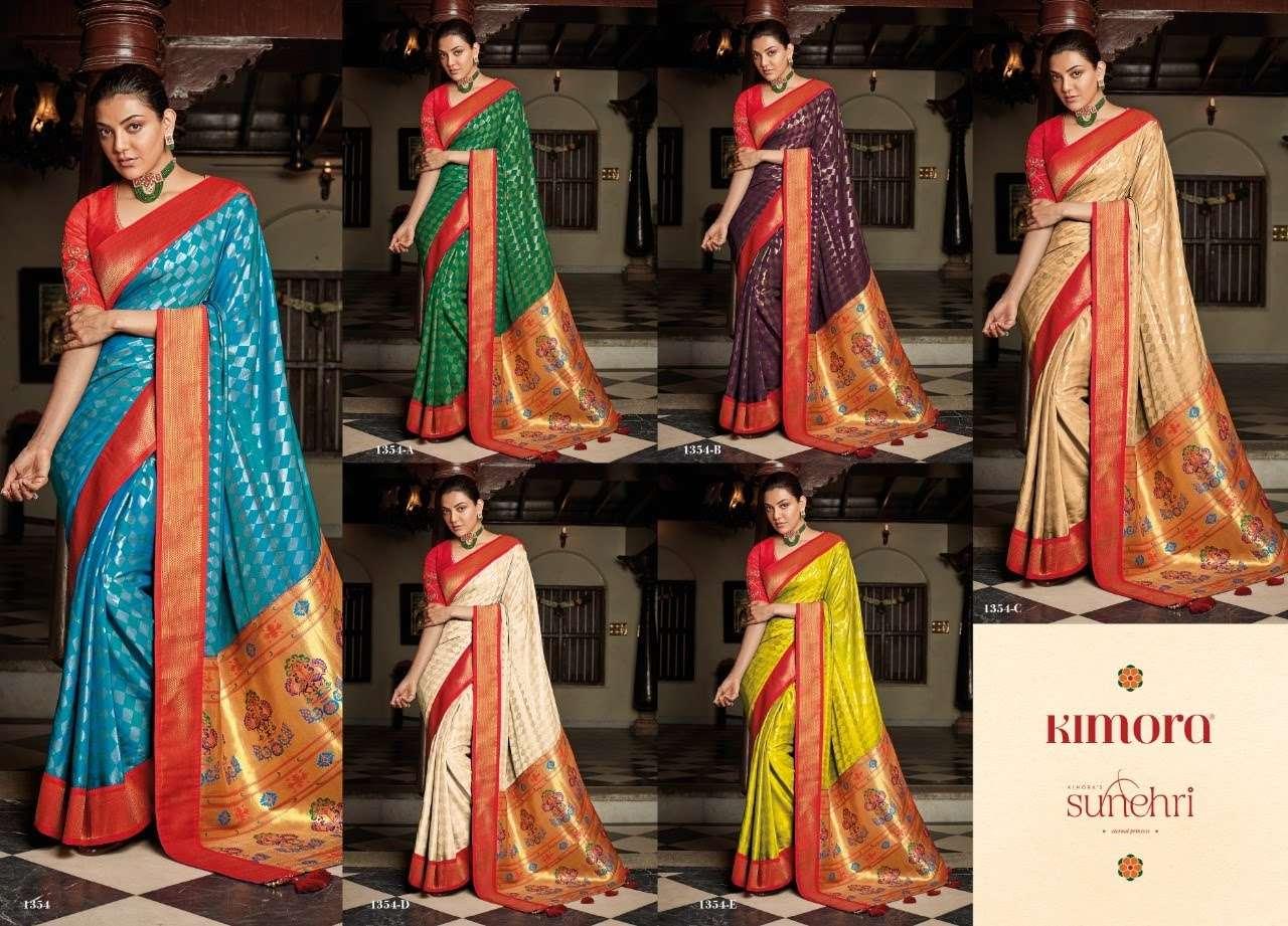 Sunheri 1354 Colors By Kimora Fashion Silk Saree Export