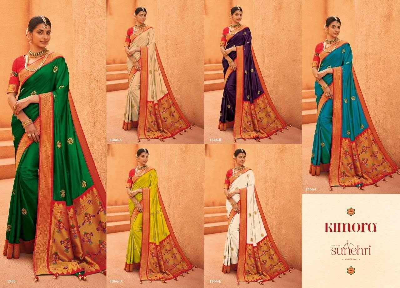 Sunheri 1366 Colors By Kimora Fashion Wholesaler Of Silk Saree