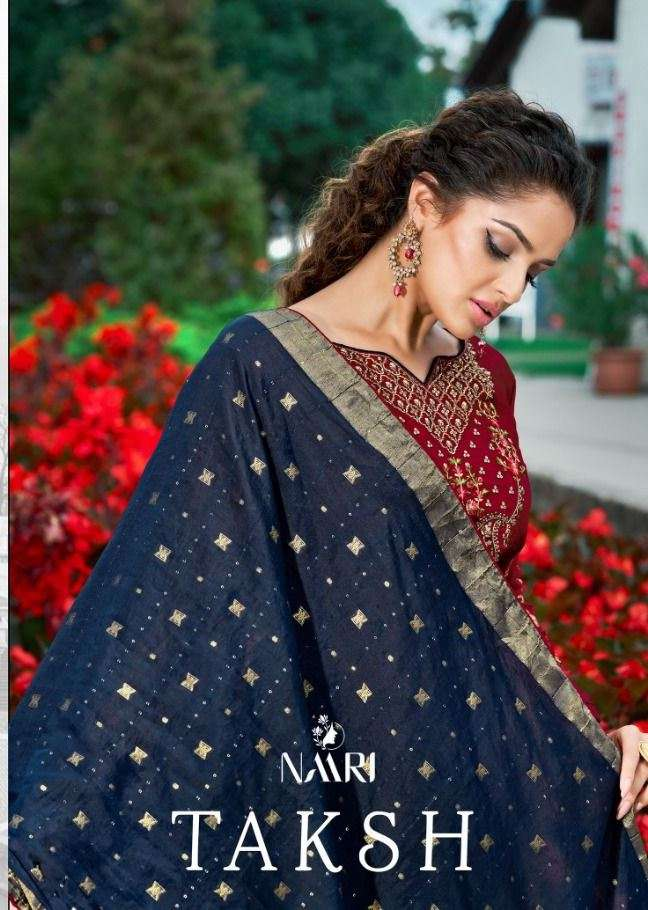 Taksh Parampara Silk Designer Stylish Salwar Kameez By Naari