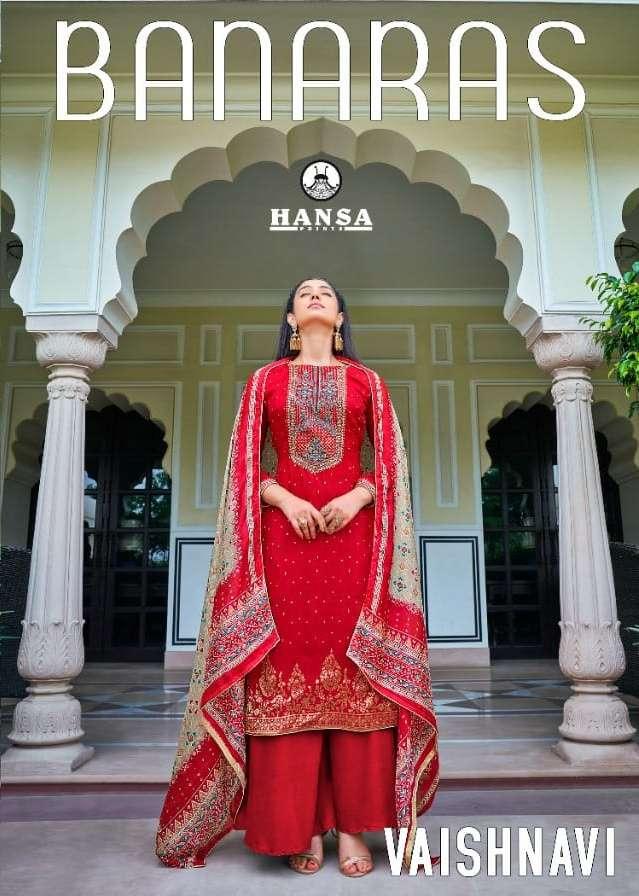 Vaishnavi By Hansa Dola Silk Jacquard Fancy Suits