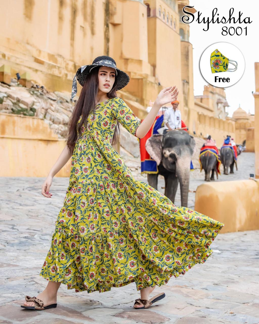 Virasat Stylishta 8001-8004 Series Long Gown Collection