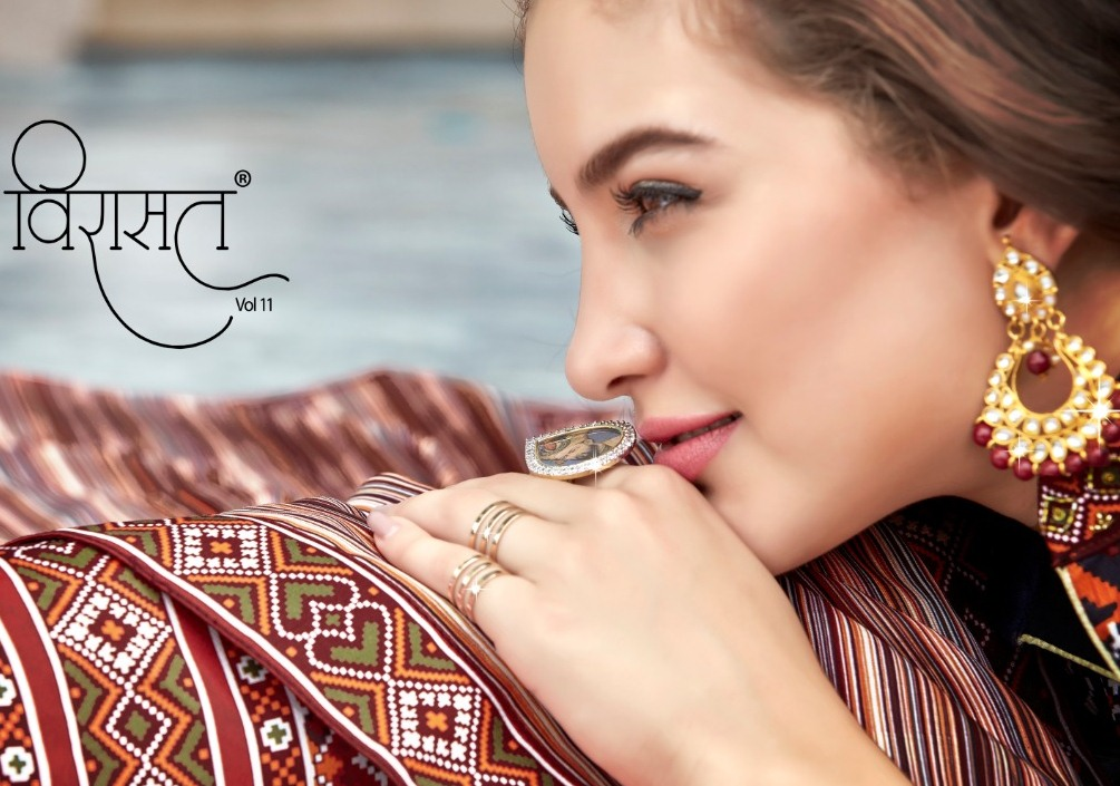 Virasat Vol 11 Silk Long Gown Exclusive Party Wear Kurti Exporter