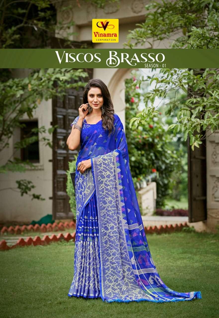 Viscose Brasso Vol 1 By Vinamra Saree Surat Dealer