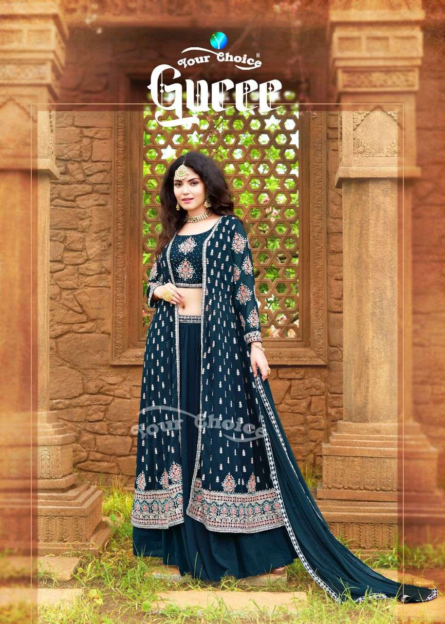 Your Choice Gucee Georgette Party Wear Fancy Suits
