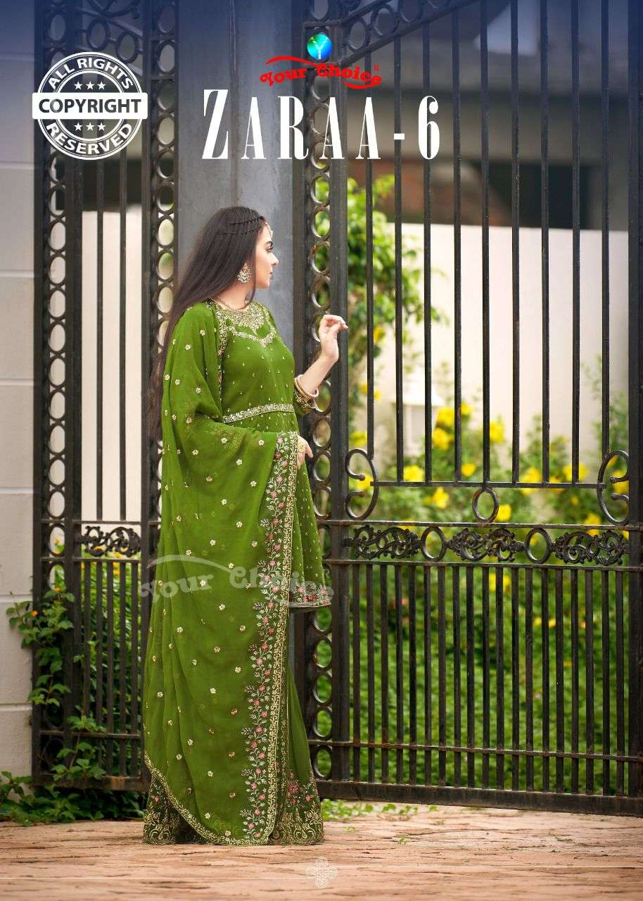 Your Choice Zaraa Vol 6 Georgette Garara Salwar Kameez