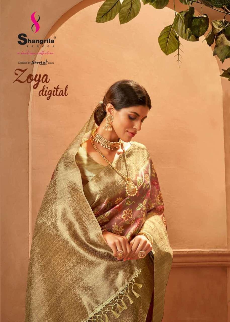 Zoya Digital Rich Pallu Party Wear Sarees By Shangrila