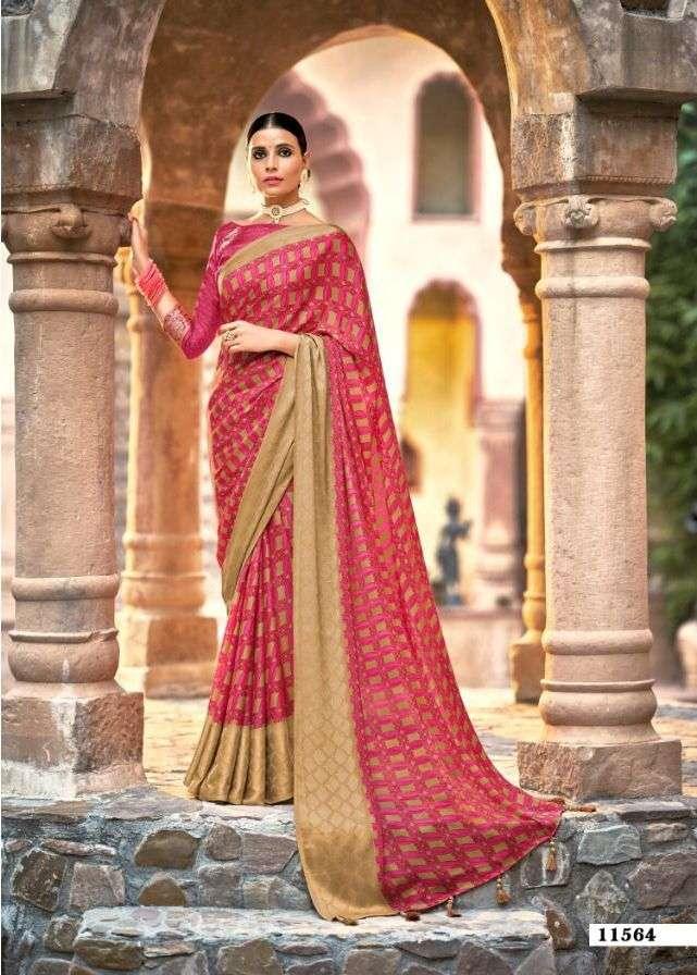 5d karishma vol 2 crape georgette printed classy look fancy sarees