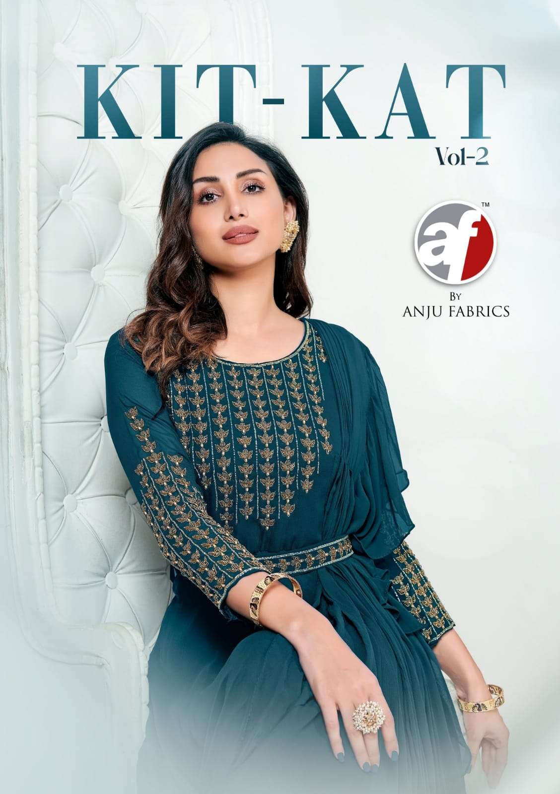 A F kurti introduce new stylish collection kitkat vol 2 designer long one pc for diwali
