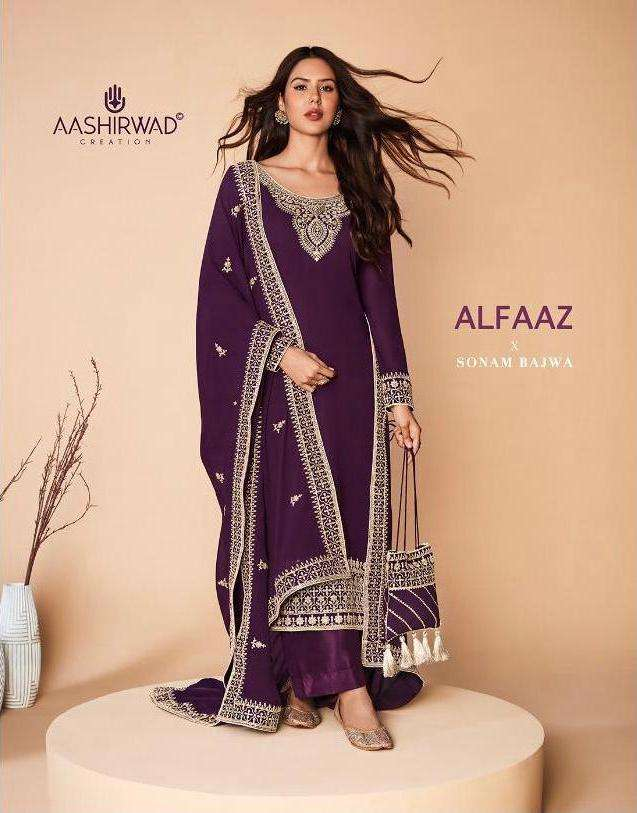 alfaaz by aashirwad georgette traditional fancy dresses collection