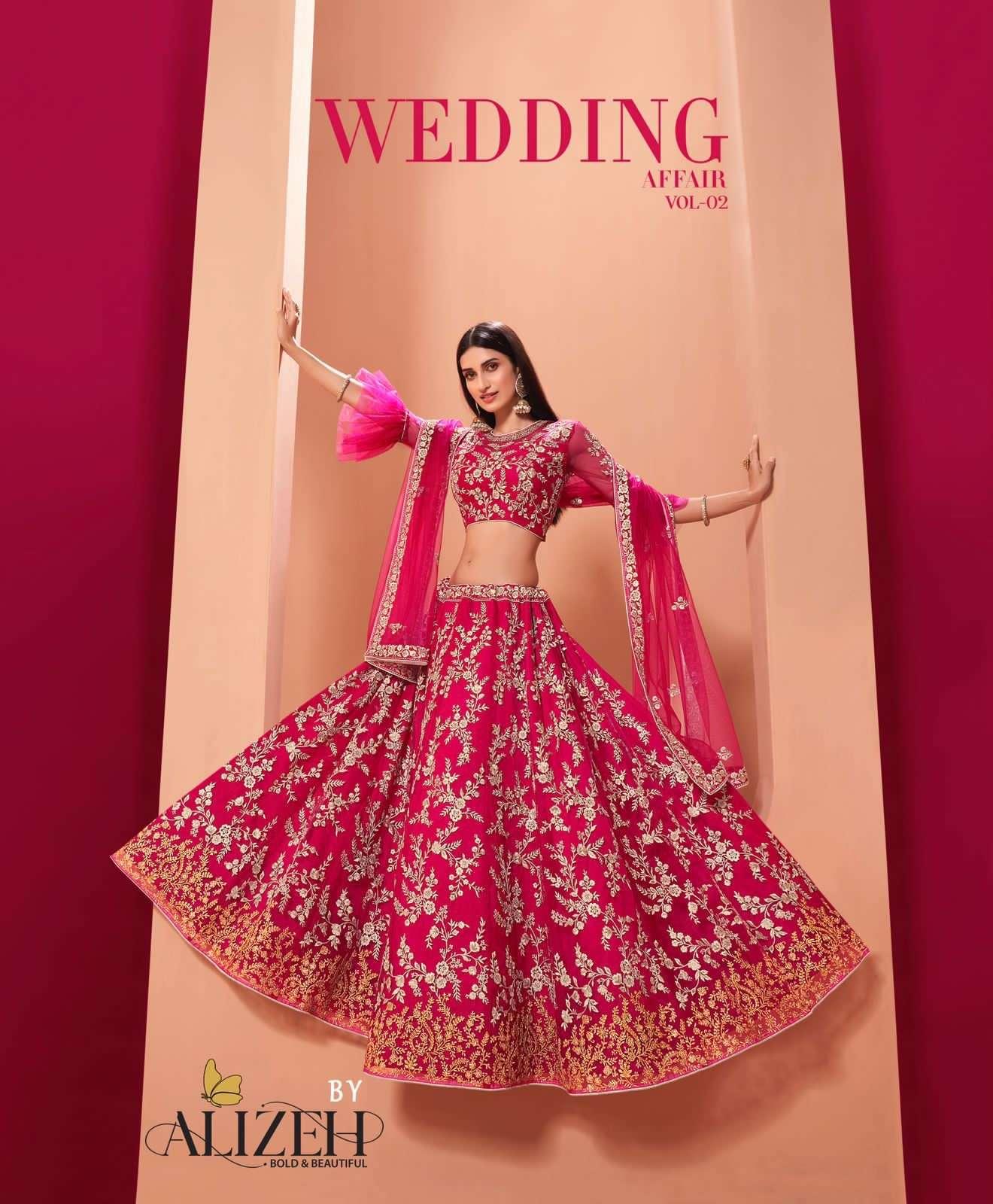 alizeh wedding affair vol 2 1035-1038 series stunning bridal lehenga collection