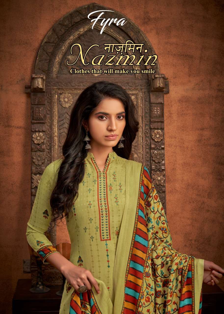 alok suit nazmin wool pashmina printed suits for winter