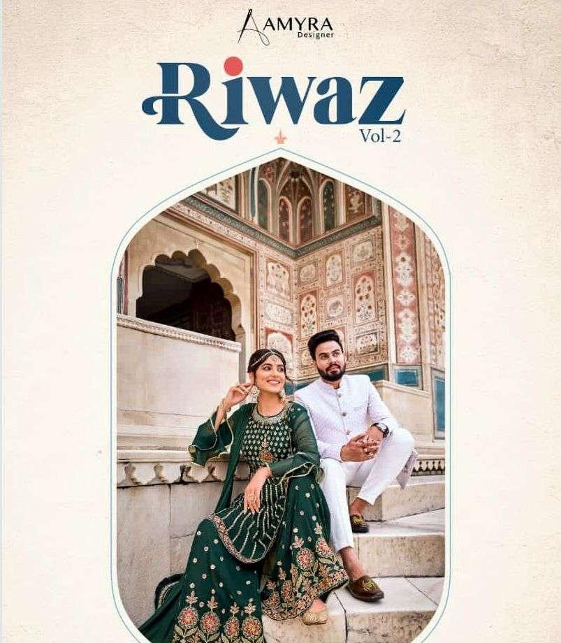 amyra designer riwaz vol 2 free size stitched garara peplum collection dresses