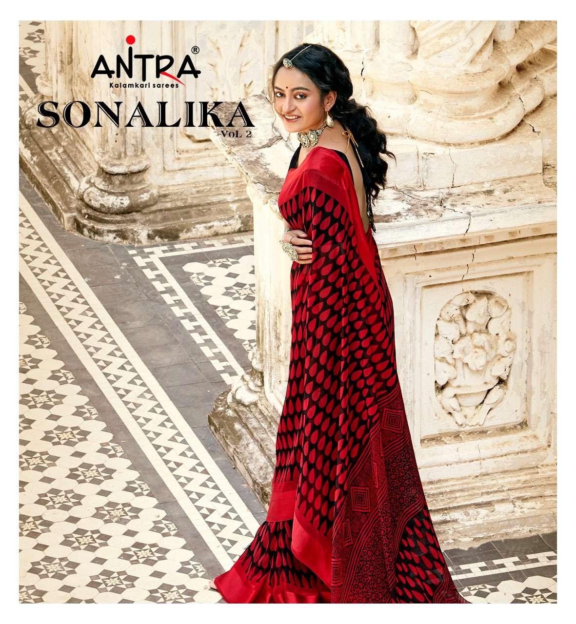 antra sonalika vol 2 fancy weightless printed sarees