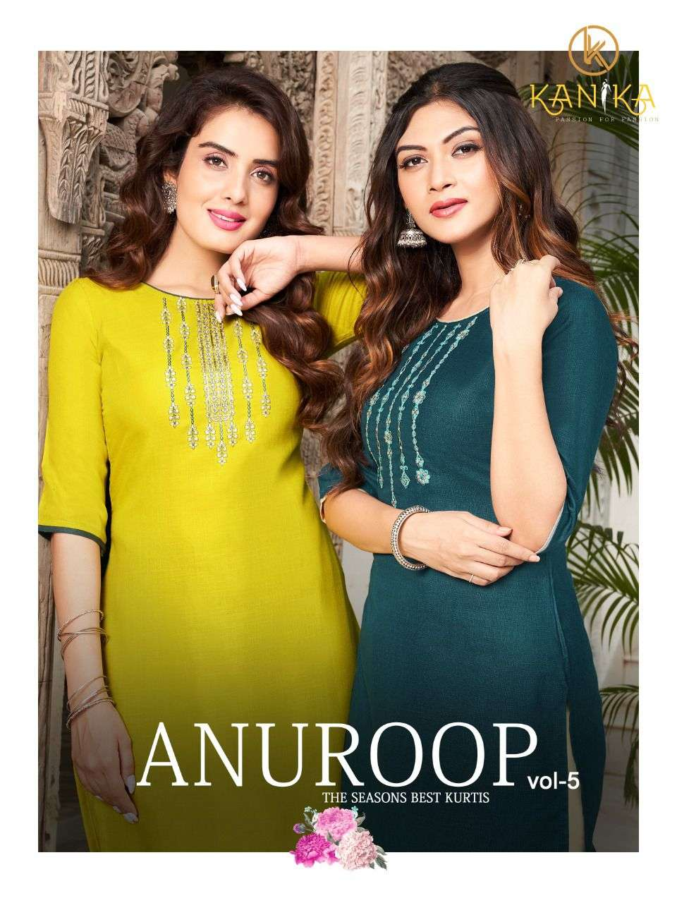 ANUROOP VOL 5 BY KANIKA COTTON KURTI WITH EMBROIDERY WORK