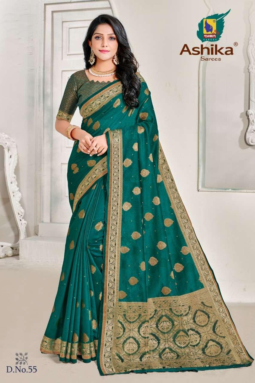 ashika madhulika vol 3 linen with resham work saree wholesaler