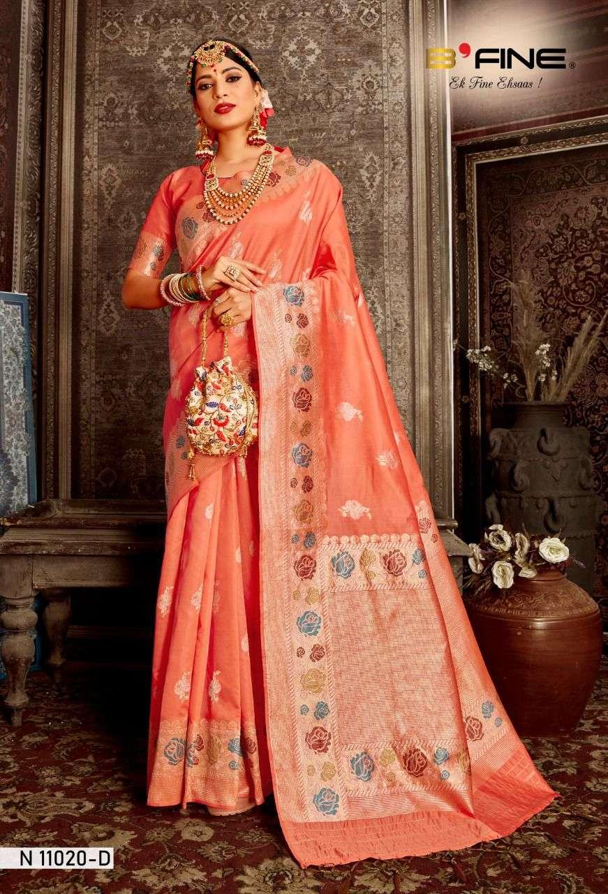 b fine meenakari silk exclusive indian sarees