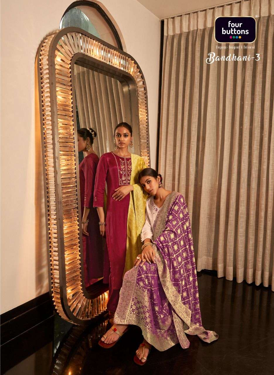 bandhani vol 3 by four buttons readymade traditional wear fancy dresses