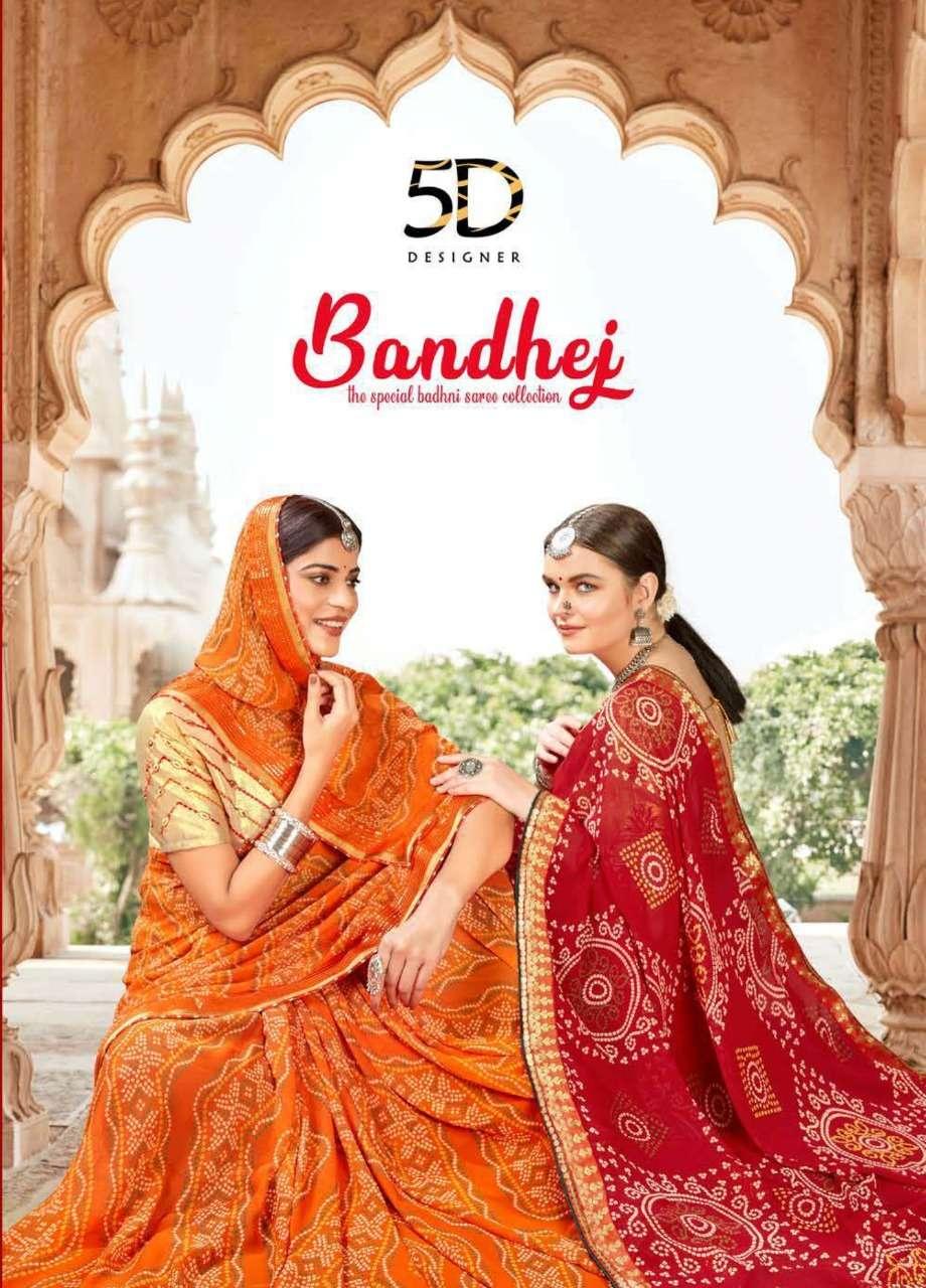 bandhej by 5d designer weightless bandhani traditional wear sarees