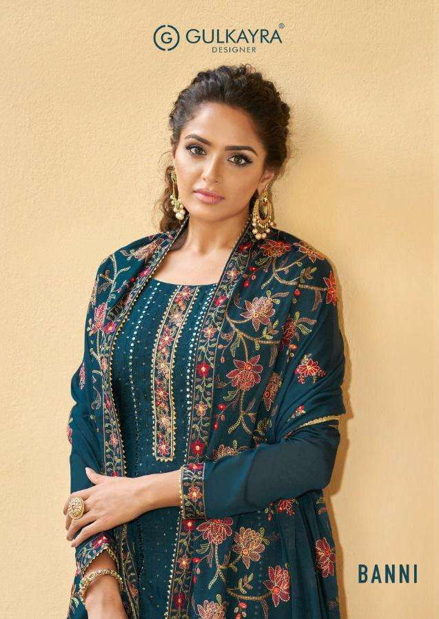 banni by gulkayra georgette exclusive fancy suits wholesaler