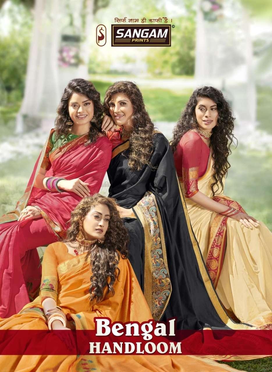 Bengal Handloom Vol 2 By Sangam Cotton Stylish Look Pretty Saree Exporter