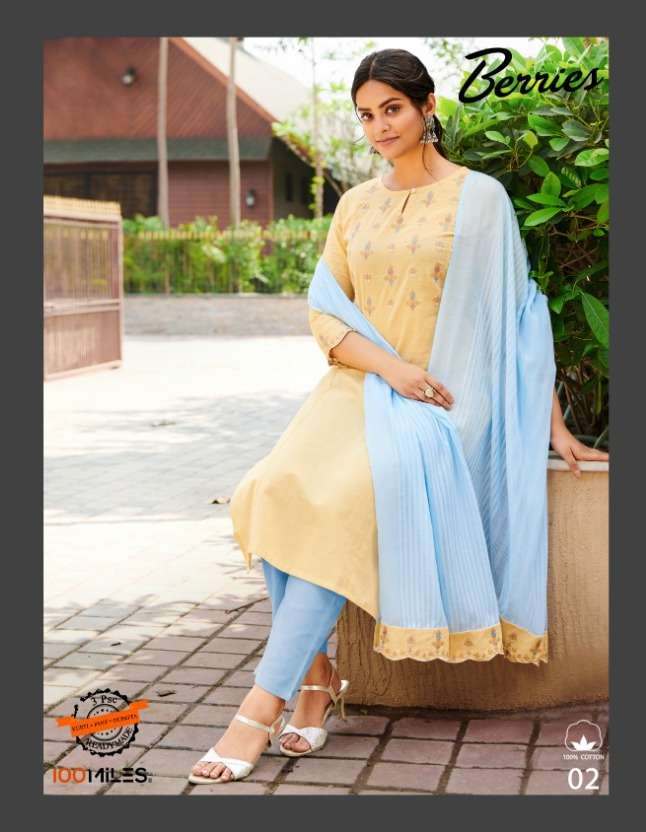 berries by 100 miles cotton readymade casual salwar kameez