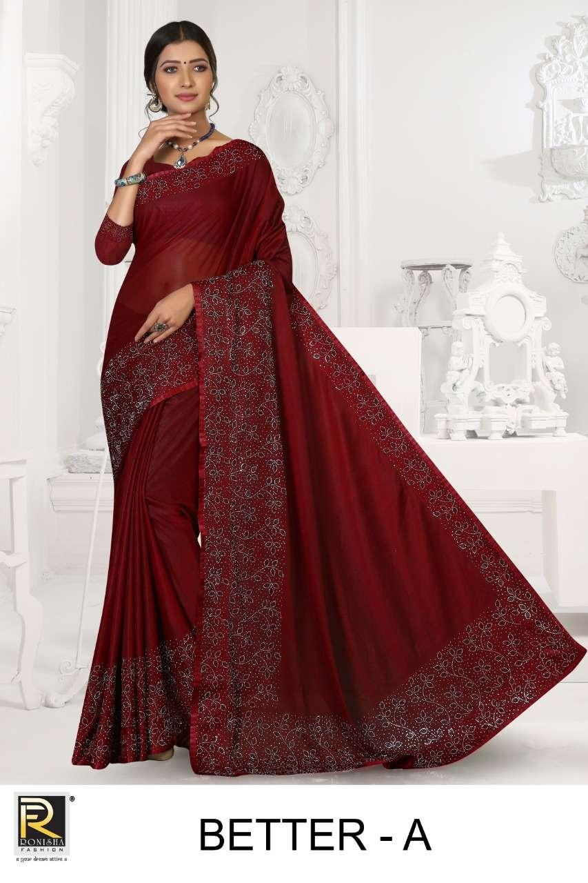 Better by ranjna saree heavy siroski diamond panel party wear saree collction online shop