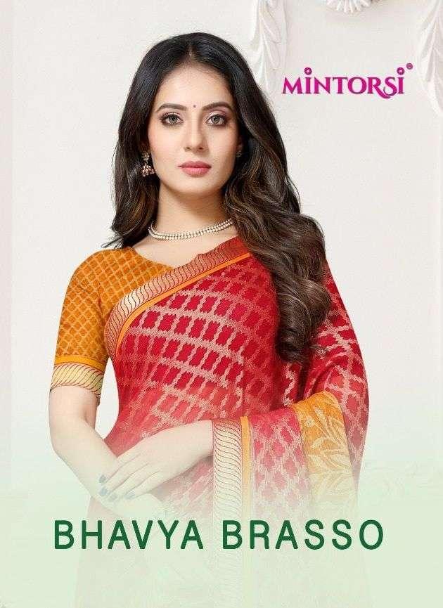 bhavya brasso by mintorsi chiffon brasso printed sarees