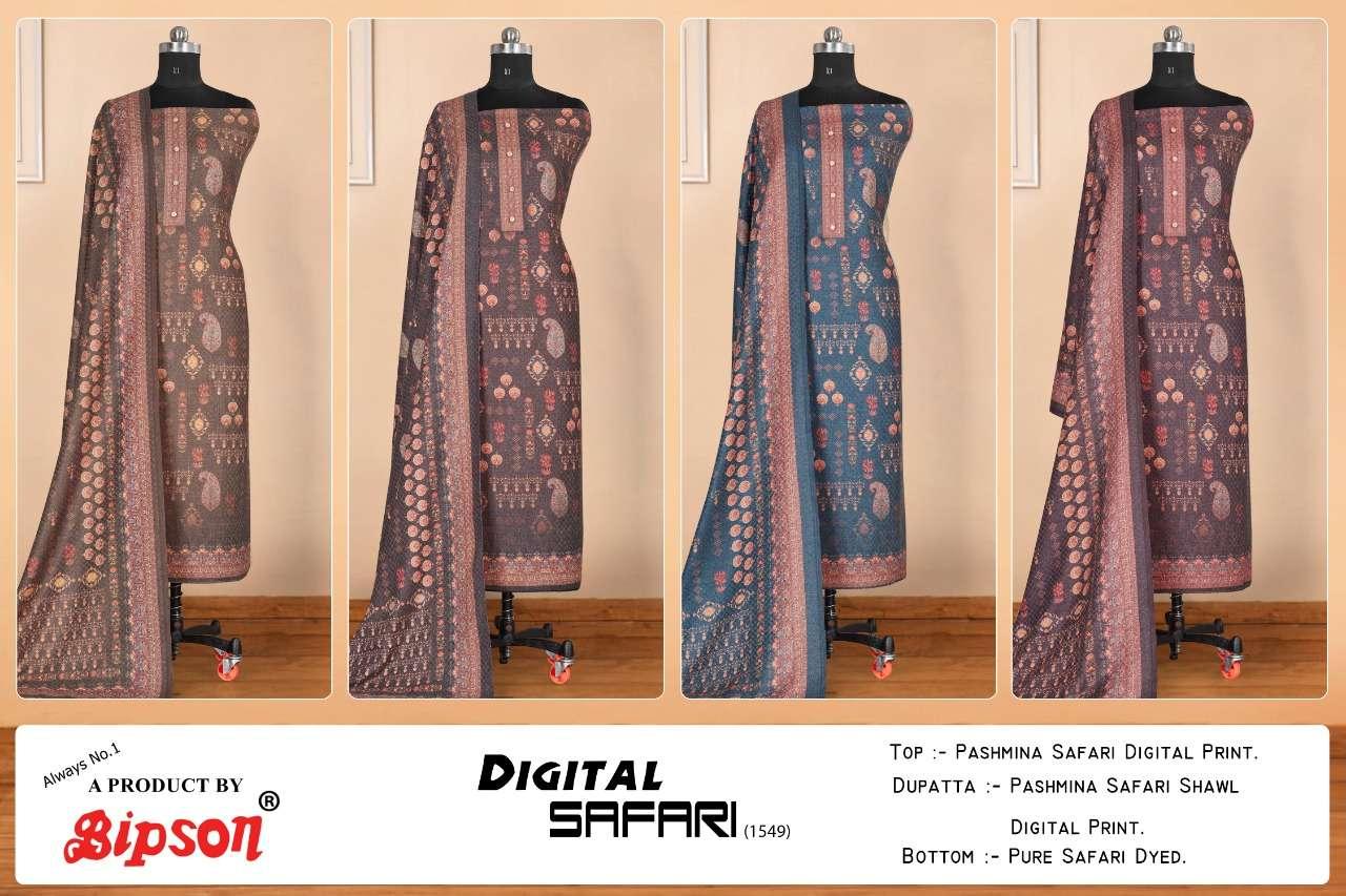 bipson digital safari 1549 woolen pashmina winter dress materials
