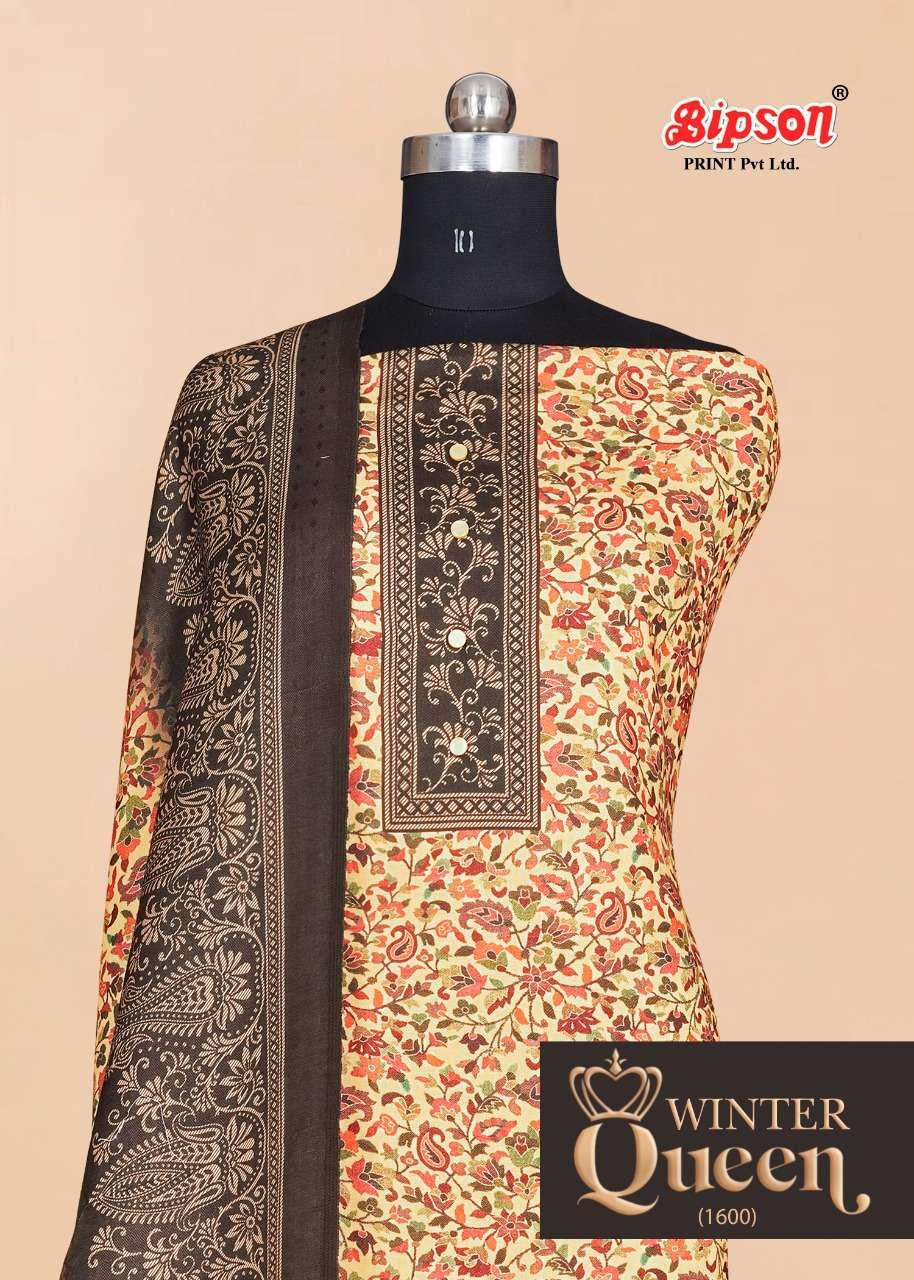 bipson dn no 1600 woolen pashmina winter dress materials