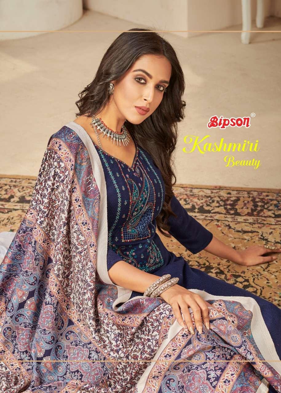 bipson kashmiri beauty 1624-1627 pashmina winter dress materials