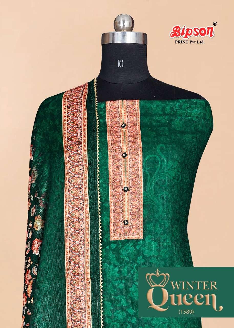 bipson winter queen 1589 woolen pashmina winter dress materials