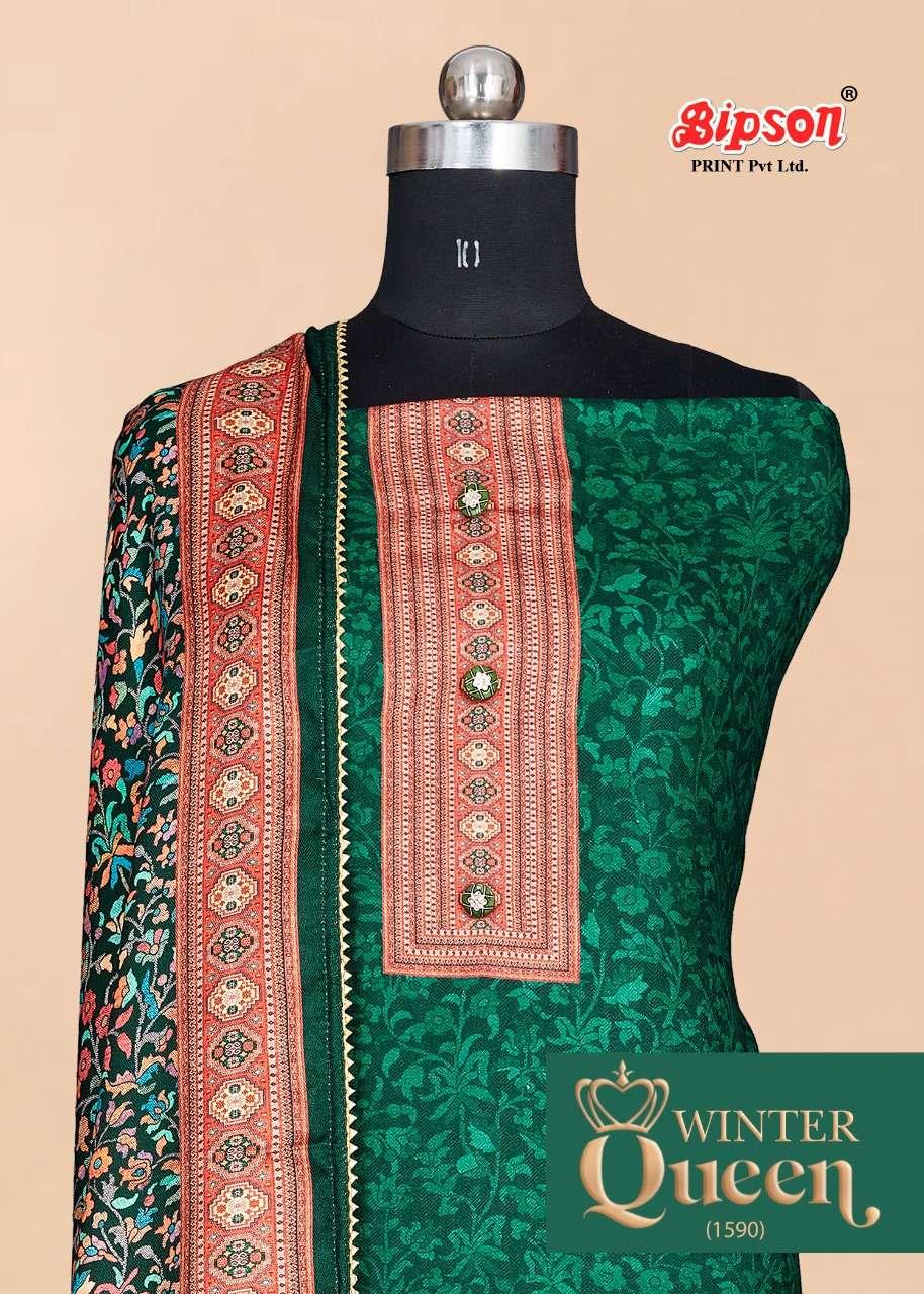 bipson winter queen 1590 wool pashmina dress materials