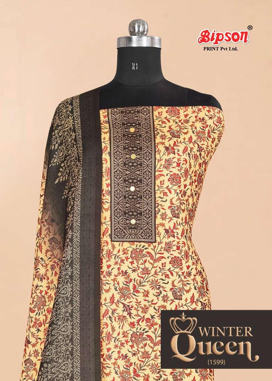 bipson winter queen 1599 wolleen pashmina print dress