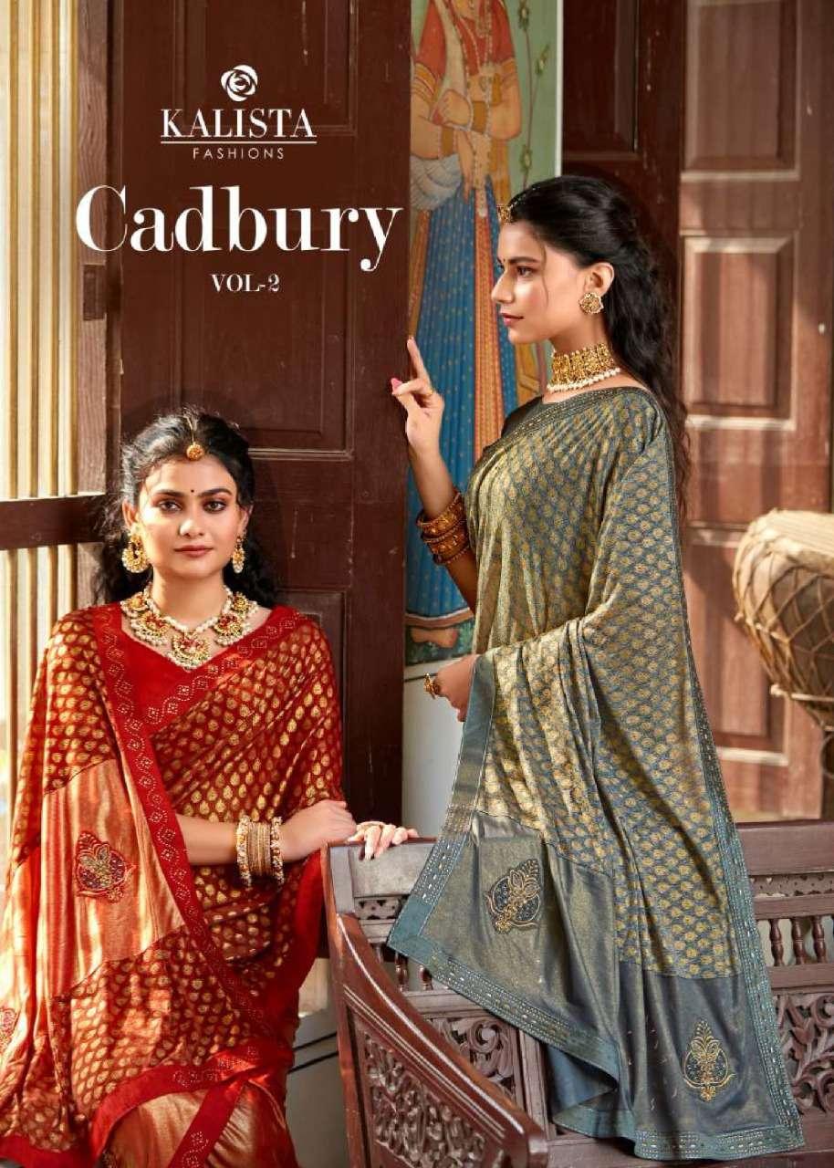 cadbury vol 2 by kalista heavy lycra designer fancy sarees