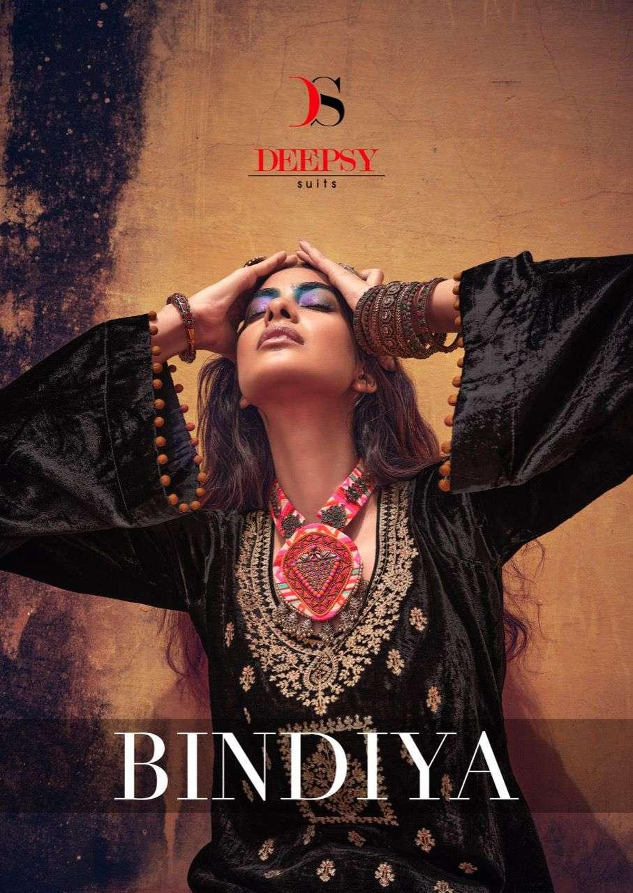 deepsy bindiya velvet winter embroidery suits
