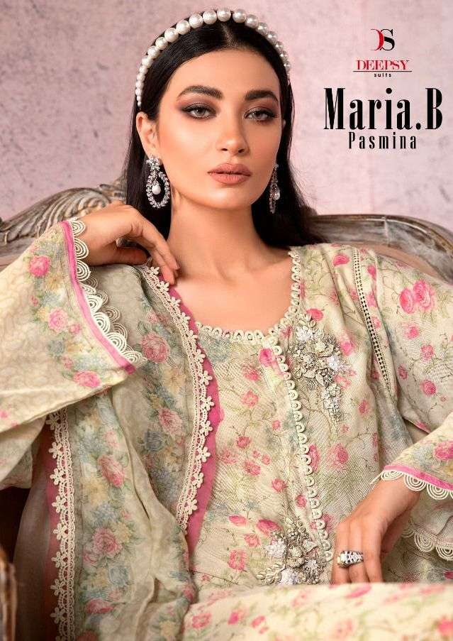 deepsy maria b pashmina winter pakistani casual dresses