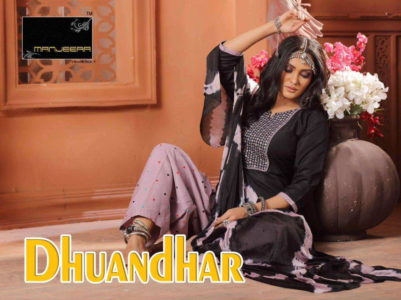 DHUADHAR BY MANJEERA HEAVY RAYON READYMADE SUIT CATLOG WHOLESALER BEST RATE