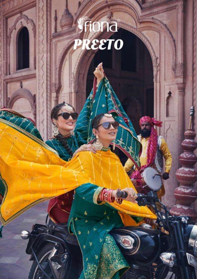 fiona launch preeto silk jacquard exclusive fancy suits