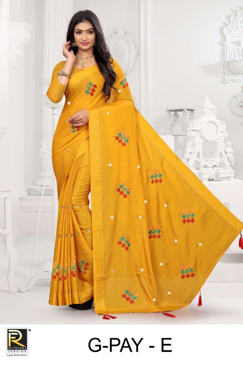 G-pay by ranjna saree fancy worked with siroski diamond bollywood saree collecton online shop